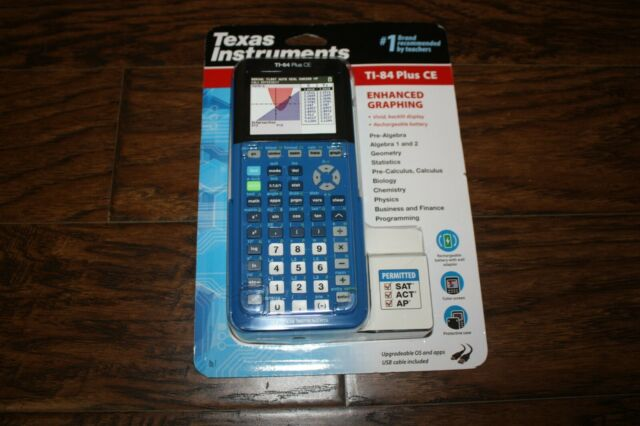 New Sealed Blue Texas Instruments Ti-84 Plus CE Graphing Color Calculator