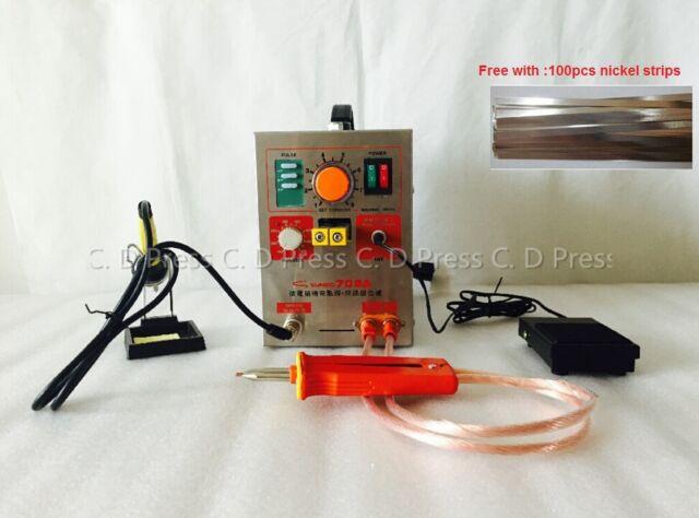 1.5KW 709A 2in1 Pulse Spot Welder Welding Machine Battery Charger pen/&iron 220v