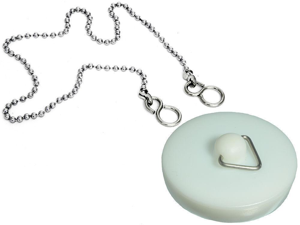 24Pk blancoo Plástico Lavabo Baño Enchufe 4.4cm 45mm. 45.7cm Cadena Incluido