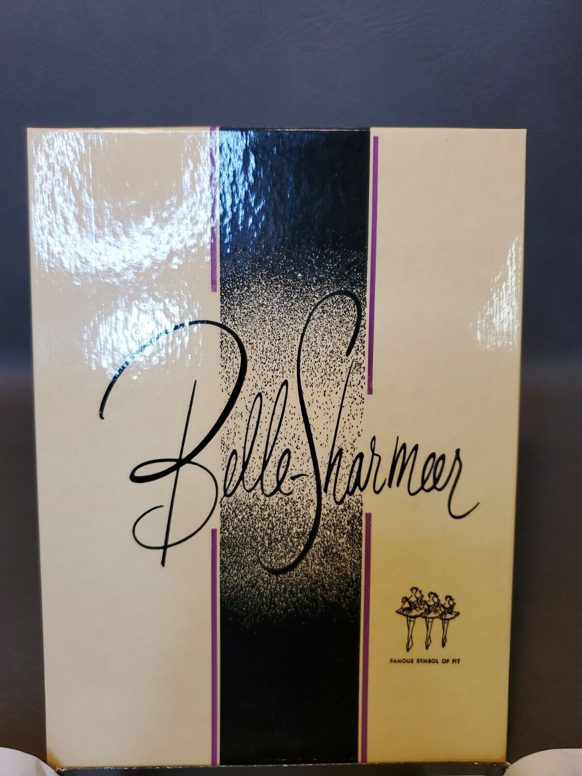 1 pair Vintage Belle-Sharmeer Stockings Froste Taupe 10S Seamless 700 Orig box