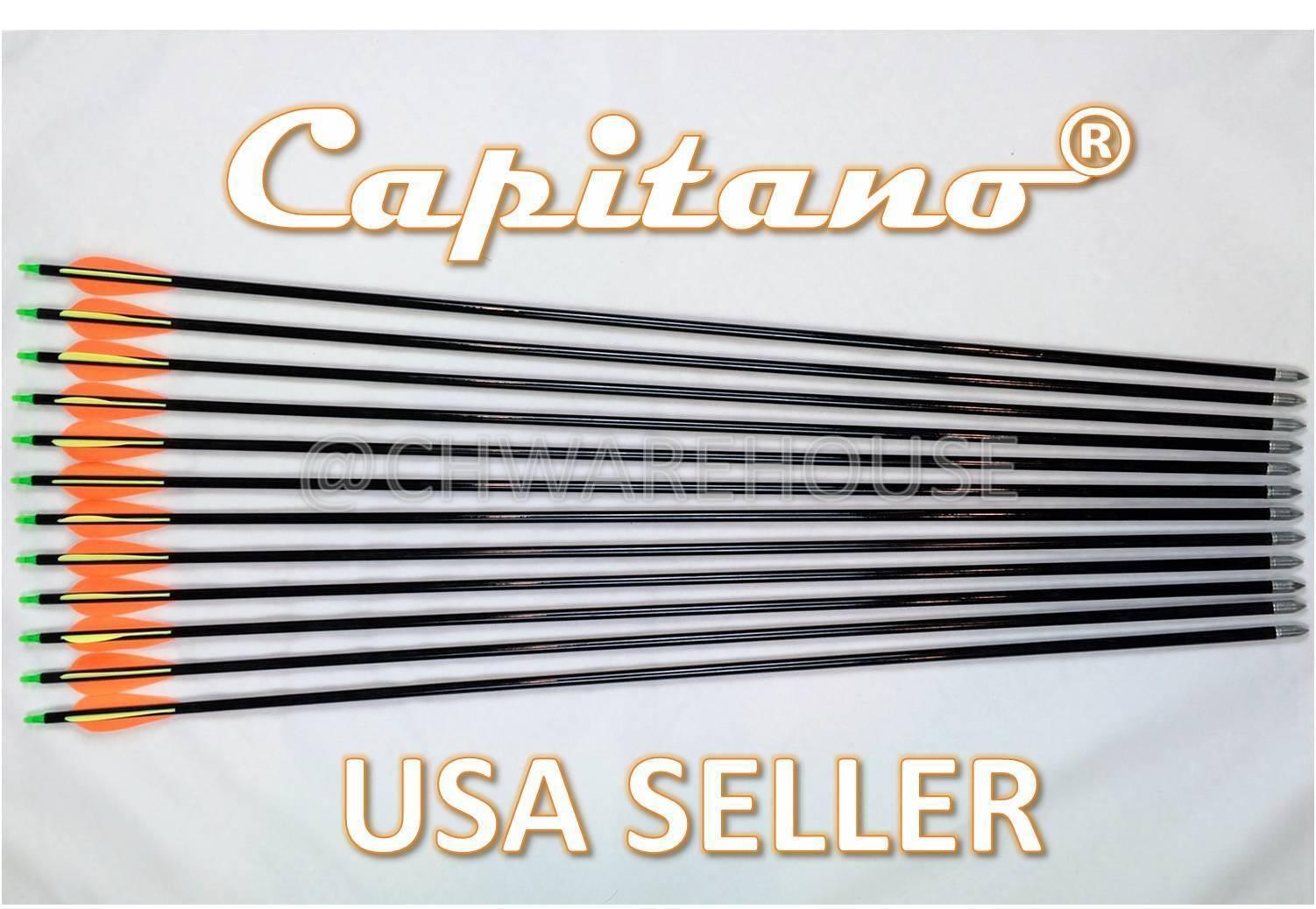 28 -108 Capitano® Fiberglass Target Practice Arrow Replaceable Screw-In Tip 71CM