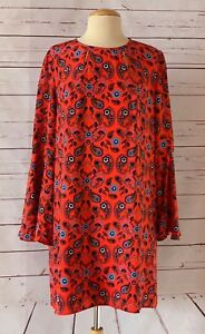 ISSA-LONDON-Size-US-10-Silk-Paisley-Dress-With-Bell-Sleeves