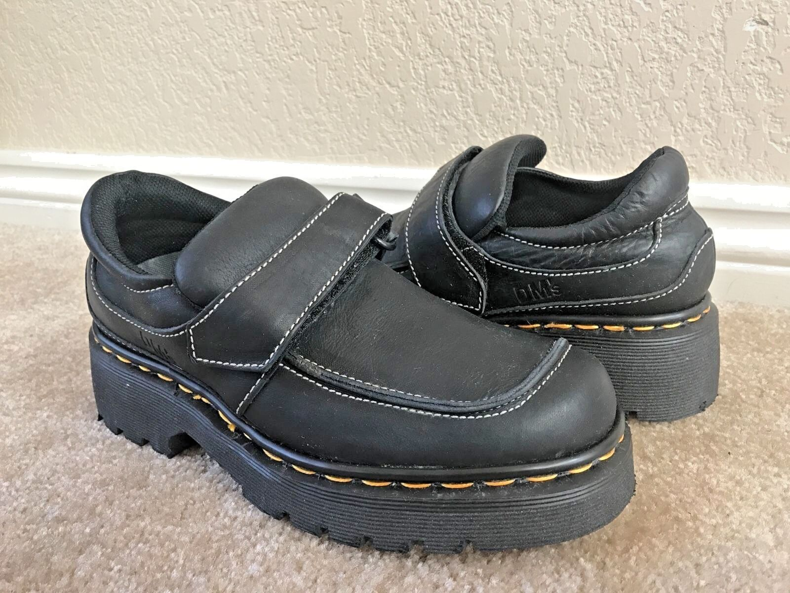 Dr. Martens Women`s Vintage Made in England Mary Janes Loafers Black ALL SIZES