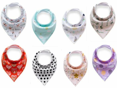 Adorable Stylish Design Bibs bibs for toddlers Baby Bandana Drool Bibs 8 Pack