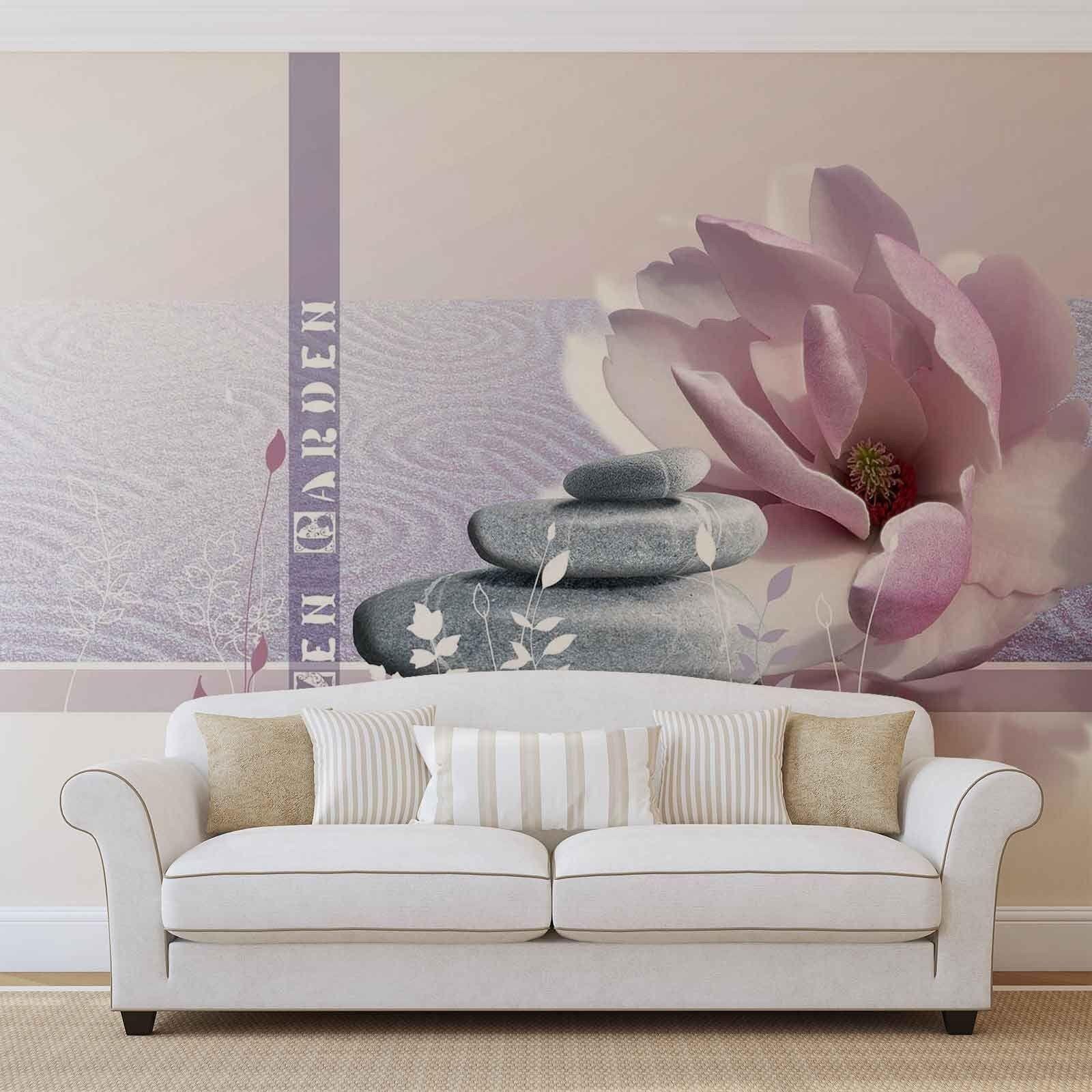 Tapete Vlies Fototapete Wellness & Spa Zen Garden Basaltsteine Lotusblüte