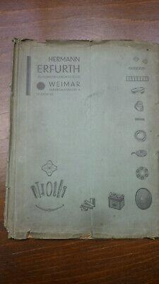 Alte Heft Erfurth Automobilersatzteile Weimar Oldtimer
