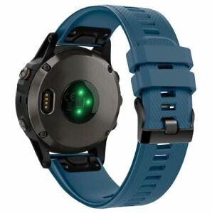 For-Garmin-Fenix-5-5-Plus-Strap-Silicone-Band-Fitness-Quick-Release-Dark-Blue