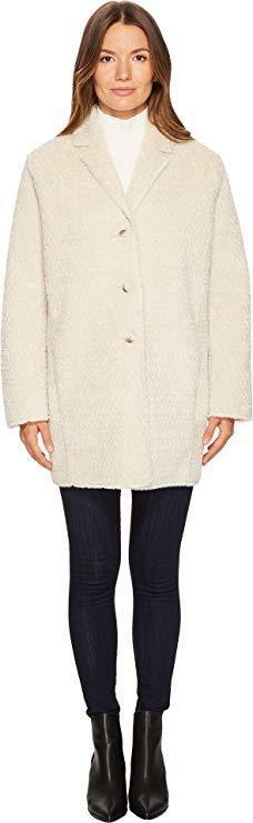 The Kooples Women's Fake Fur Kimono-Style Coat Beige Small