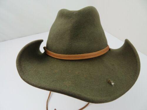 Lite Felt Green Cowboy w/ Ear Flaps Adult Cap Hat