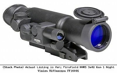 Firefield FF16001 NVRS 3x 42mm Gen 1 Night Vision Rifle Scope, Black New
