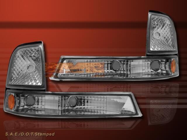 98-00 FORD RANGER EURO CLEAR CORNER SIGNAL LIGHTS LAMPS PAIR SET