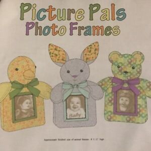 Sew Go 3 Picture Frame Stuffed Animals 100 Cotton Fabric Panel