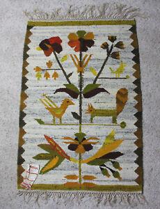 Vintage Cepelia Handwoven Rug Tapestry Wall Hanging Wool