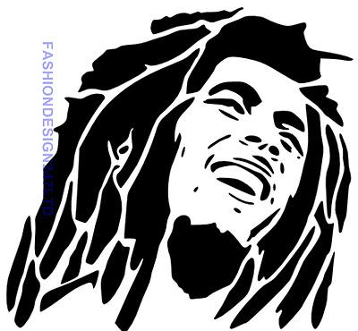 Bob Marley Mylar Stencil Craft Home Decor Painting Diy