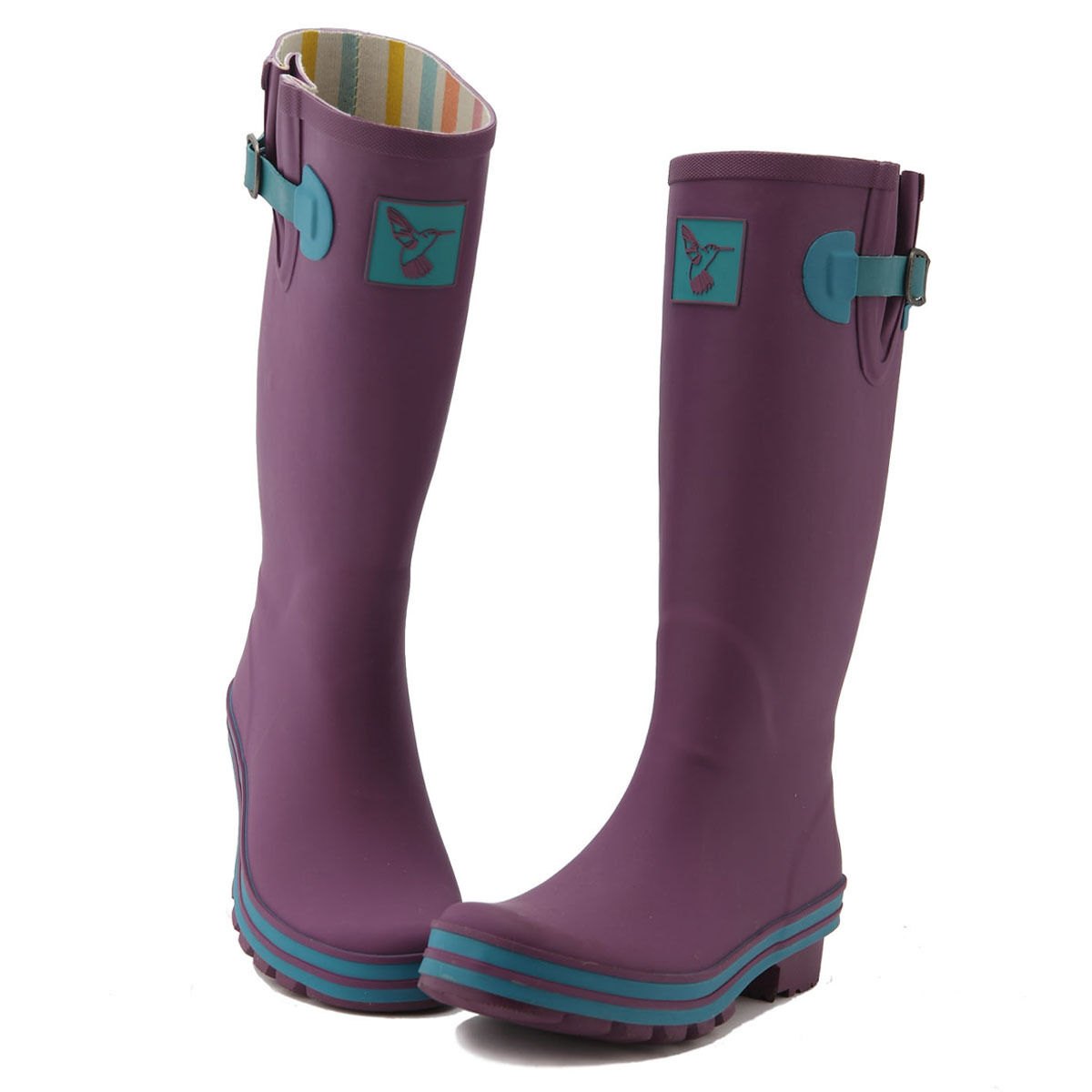 Purple Rubber Rain Boots Gumboots Wellies For Women From Evercreatures UK Brand