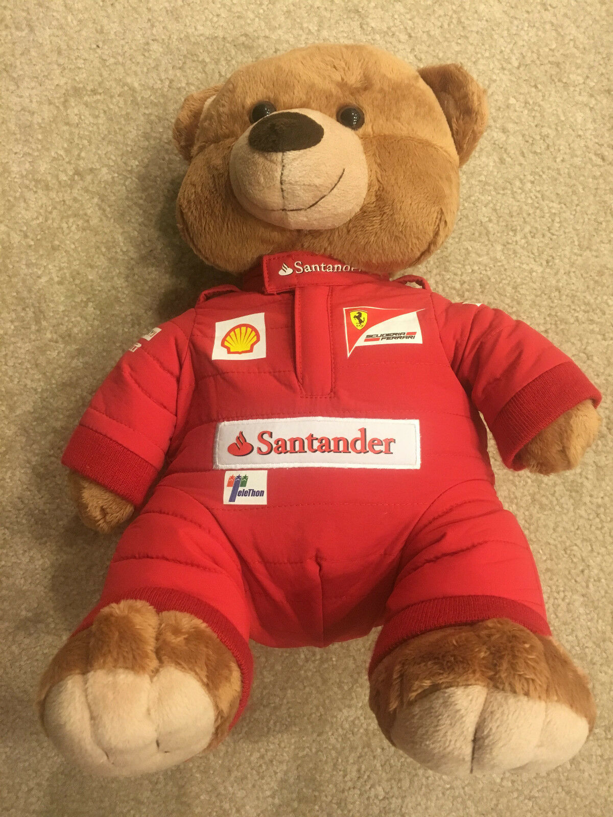 Genuine Ferrari Driver Teddy Bear The Official Product BRAND NEW for Collectors