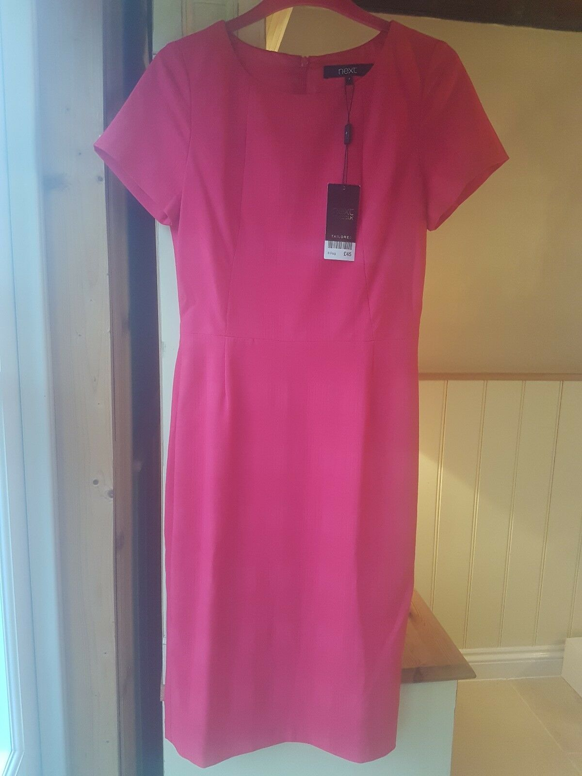 23511b1bc300a Next Cerise Pink Shift Dress Dress Dress Size 8 ba9c6e ...