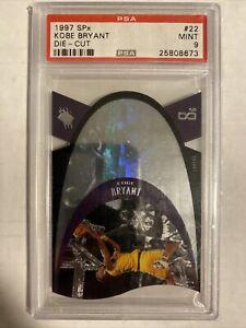 1996-97 SPx Die-Cut Kobe Bryant RC Rookie Card #22 PSA 9 MINT LAKERS HOF 🔥📈