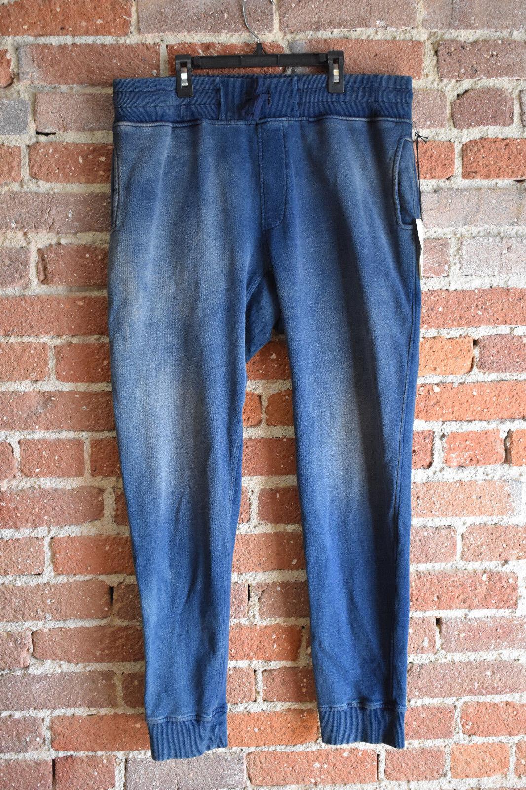 Algodón Citizen Mens Classic Sweatpants Talla L Bolsillo con cremallera  posterior Indigo Nuevo Suave  descuentos y mas