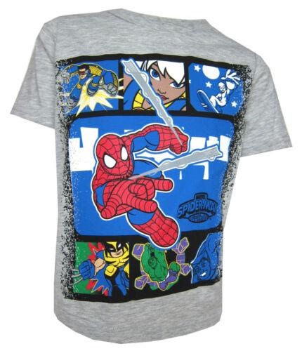2Y Spiderman T-Shirt Boys Grey Top Great Value Ages 18M 5Y or 6 Years 3Y 4Y