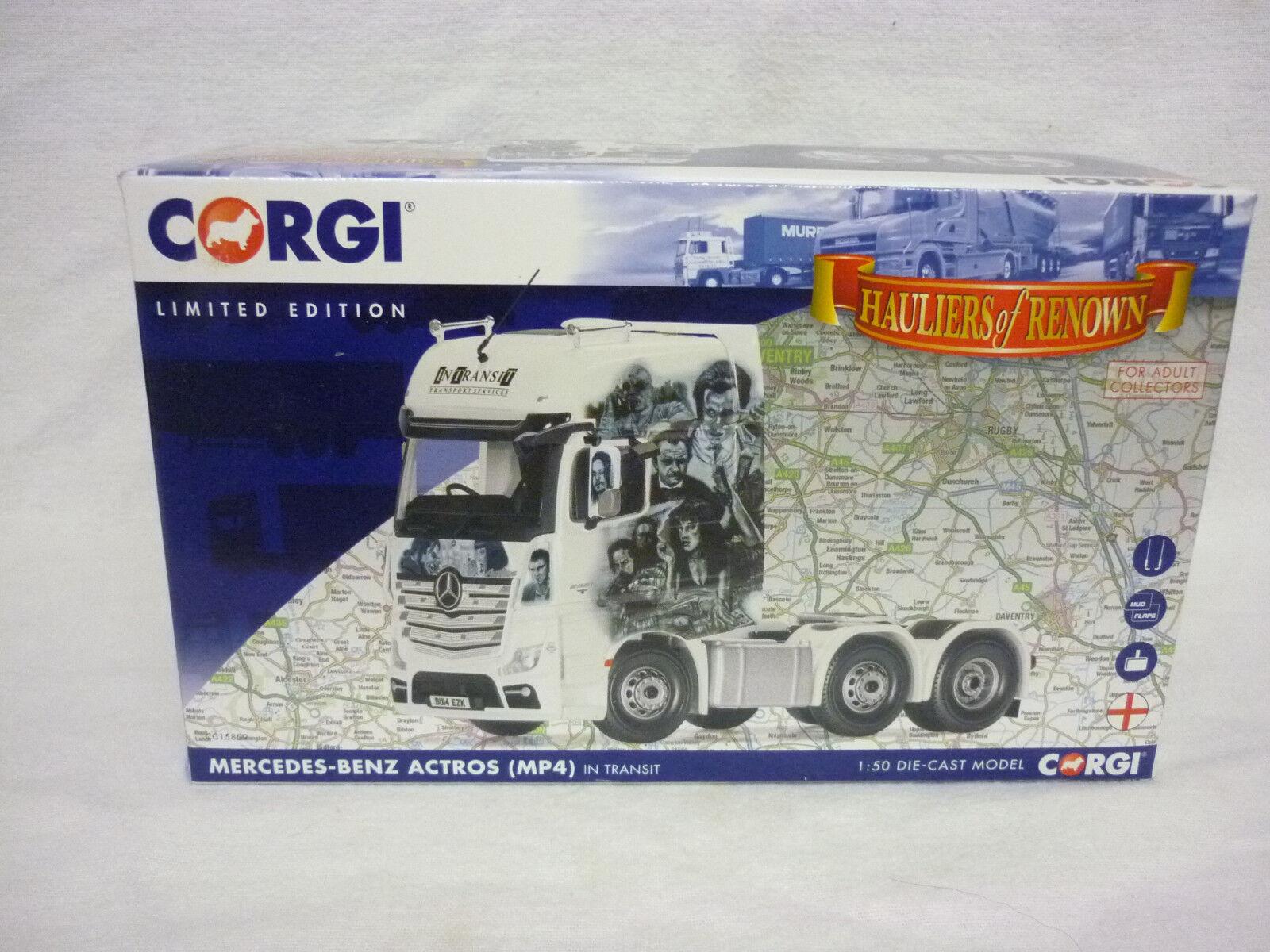 Corgi Modern Truck Haulage CC15809 Merc Actros MP4 In Transit Transport