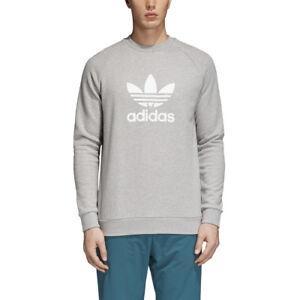 adidas Trefoil Heather Grey Crew Sweatshirt