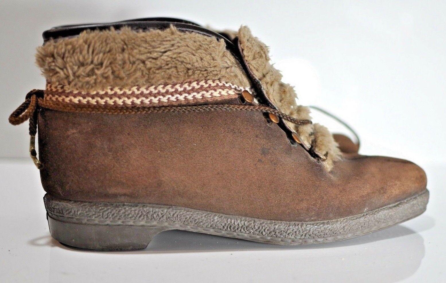 Vintage Cuero Marrón botas De Invierno Invierno Invierno Para Mujer yodelers tamaño 8.5 Hecho en EE. UU.  más vendido