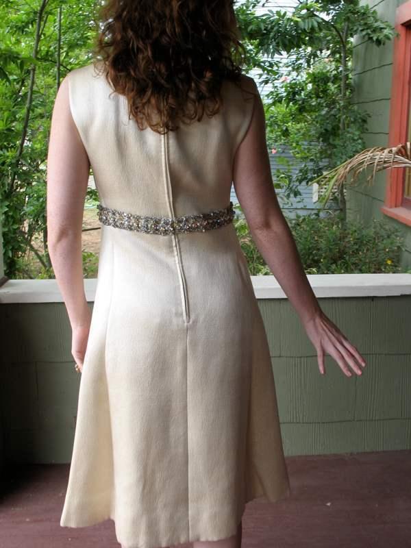 Ceil Chapman Dress VTG 60s Metallic Silk Aurora B… - image 7