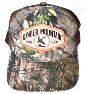 b5903361294 MOSSY OAK Gander Mountain Est. 1960 Camo Mesh Hat Cap Adjustable ...