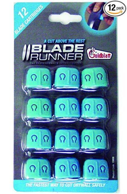 12 pcs refill replacement cartridges 12 LAME BLADE RUNNER CARTONGESSO