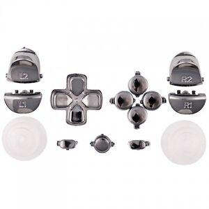 Sticks-Tasten-Button-Knoepfe-Set-Mod-Kit-fuer-PS4-Controller-chrom-titanium