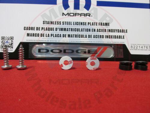 DODGE FLAT MATTE BLACK License Plate Frame W// Silver /& Red Dodge Emblem MOPAR
