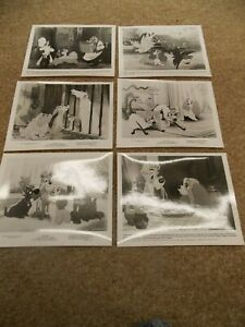 LADY-AND-THE-TRAMP-SET-OF-6-DIFFERENT-ORIGINAL-B-W-STILLS-FROM-1986-RERELEASE
