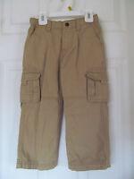 Boy's Arizona Safari Khaki, Tan Cargo Pants W/ Addjustable Waist Size 3t