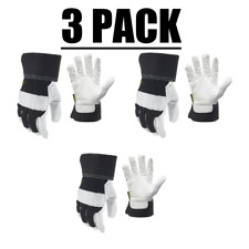 Lot Of 3 Firm Grip Goatskin Leather Palm Large Glove Durable And Flexible New