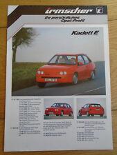 Opel Irmscher Kadett E brochure c1988 German text