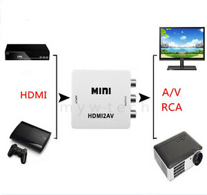 hdmi hd to rca composite av tv video converter for xbox one s 360 game console. Black Bedroom Furniture Sets. Home Design Ideas