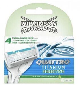 WILKINSON-SWORD-QUATTRO-Titanium-Sensitive-Razor-Blades-4-Pack-With-Aloe