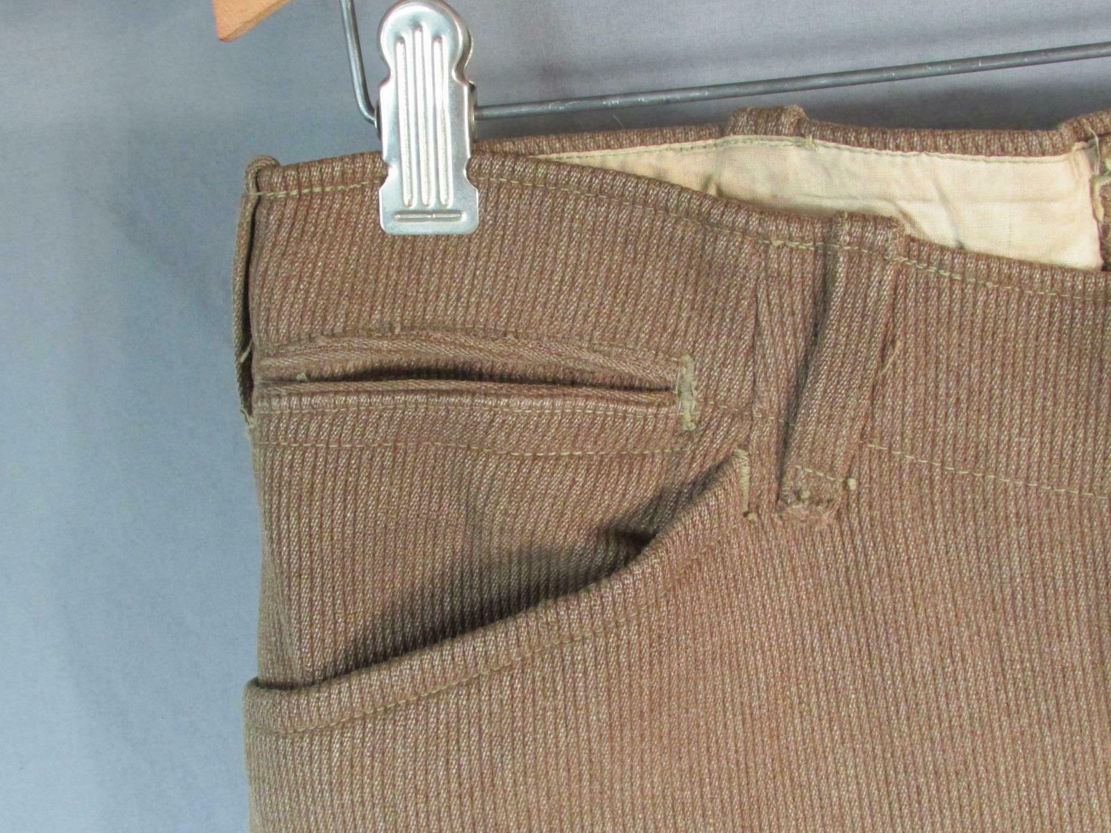 Vintage 1910s Wool Whipcord Riding Pants WWI Mili… - image 4