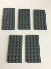 BLACK Plate Lot of 25x 4x8 Genuine Lego Plates Used
