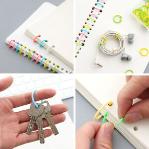 1-Box-Colored-Easy-Ring-Paper-Book-Loose-Leaf-Binder-Multi-function-Circle