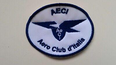 Brioso Patch Toppa Aeci Aero Club D'italia 8x6cm - Cucito/strappo/termica 000 Prezzo Pazzesco