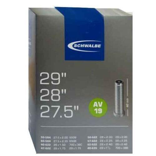 Schwalbe AV19 Schrader Inner Tube -  29X1.75-2.4 - 27.5X2 - 700X38