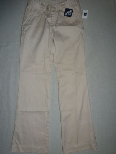 GAP KIDS Light Tan Beige Khaki School Uniform Pants Stain Wrinkle Resistant NWT