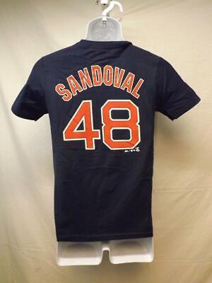 Fanartikel VertrauenswüRdig New-minor Fehler Boston Red Sox Pablo Sandoval Majestic Jugend Medium Blau Ein GefüHl Der Leichtigkeit Und Energie Erzeugen