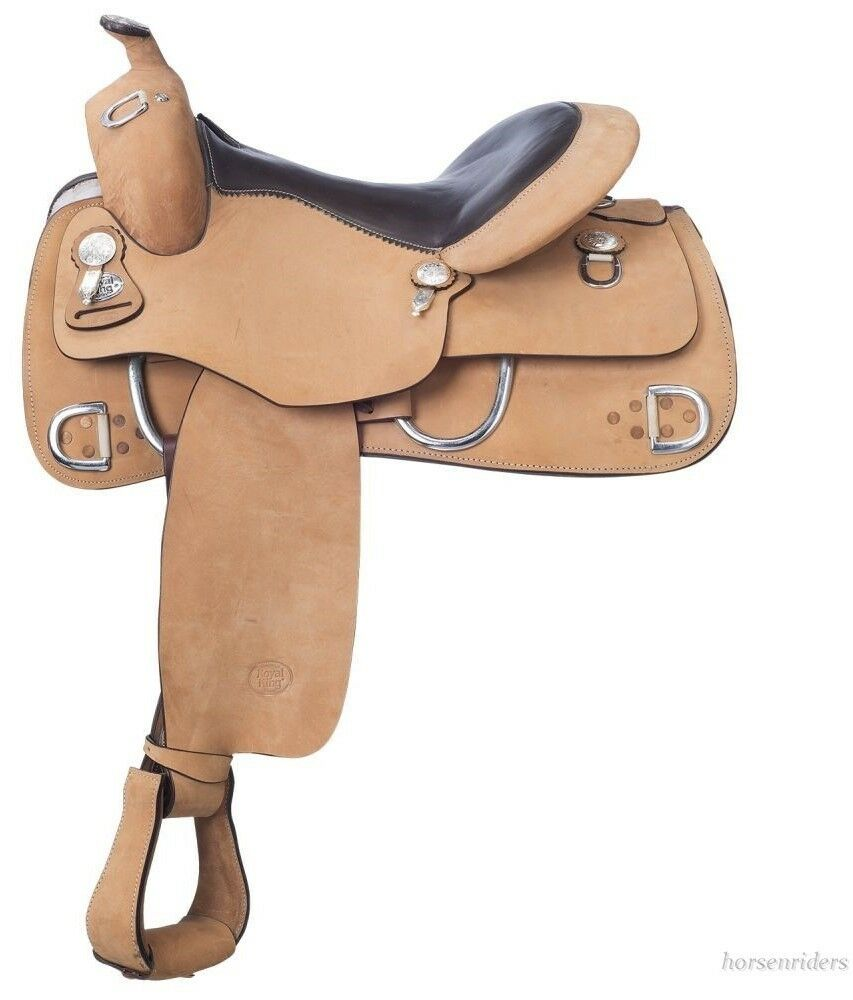 16.5 Inch Western Training Saddle - Roughout Leather - Veri  Flex Tree-Royal King  welcome to buy