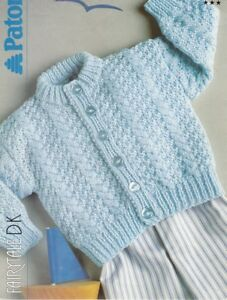 Baby Toddler Knitting Pattern CARDIGAN 8 Ply Fairytale 3 ...