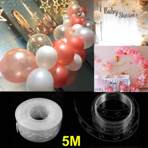 5M Ballonstreifen Verbinden Kette Ballonbogen Dekor Kunststoff DIY Band Party