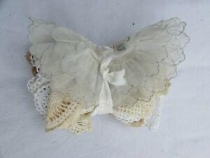 Lot 5 Vintage Doilies Doily Crochet  Crocheted Cotton 30398 Ecru Ivory Lace