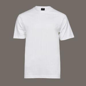 T-Shirt-weiss-mit-Rundhalsausschnitt-100-Baumwolle-ohne-Aufdruck-NEU